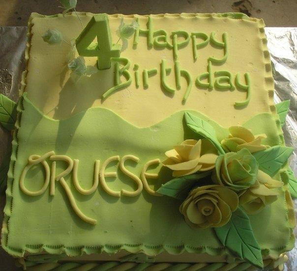 Yellow and green cake (B113)